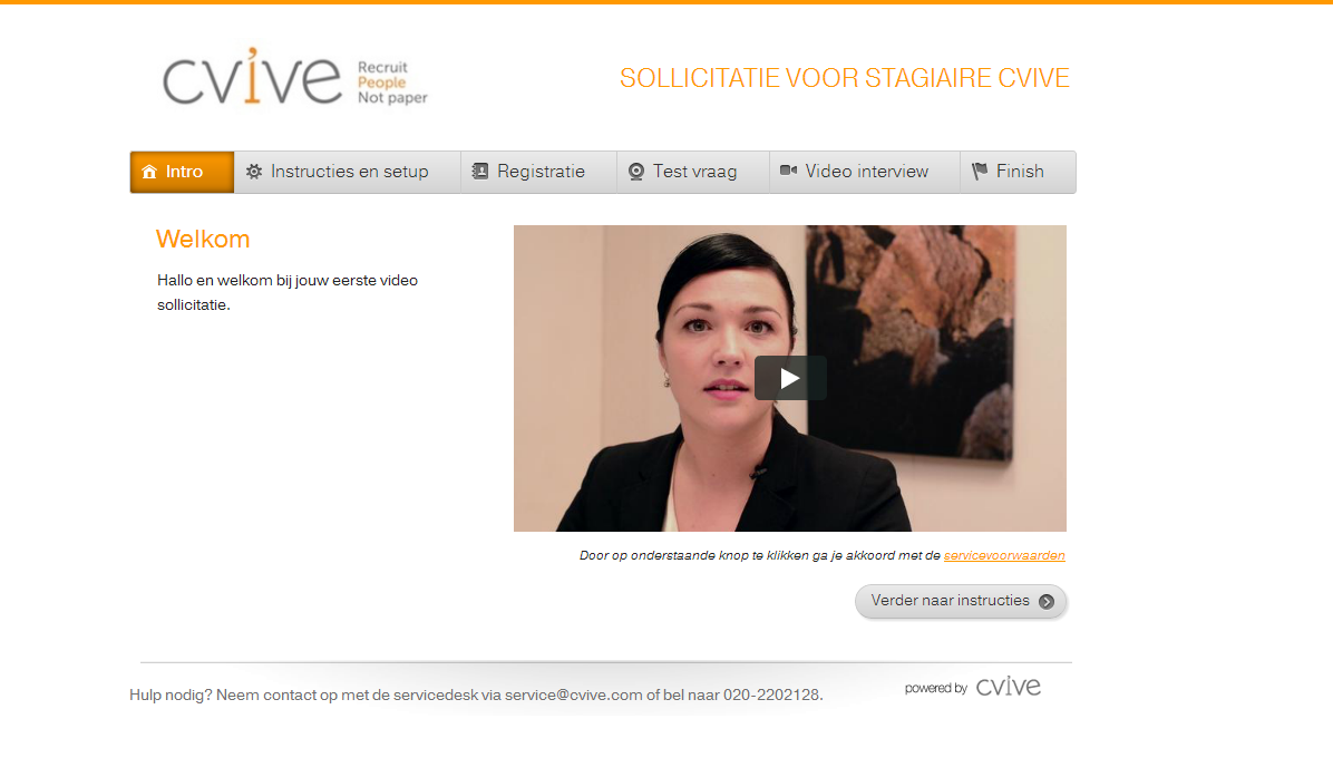 CVIVE applicant view